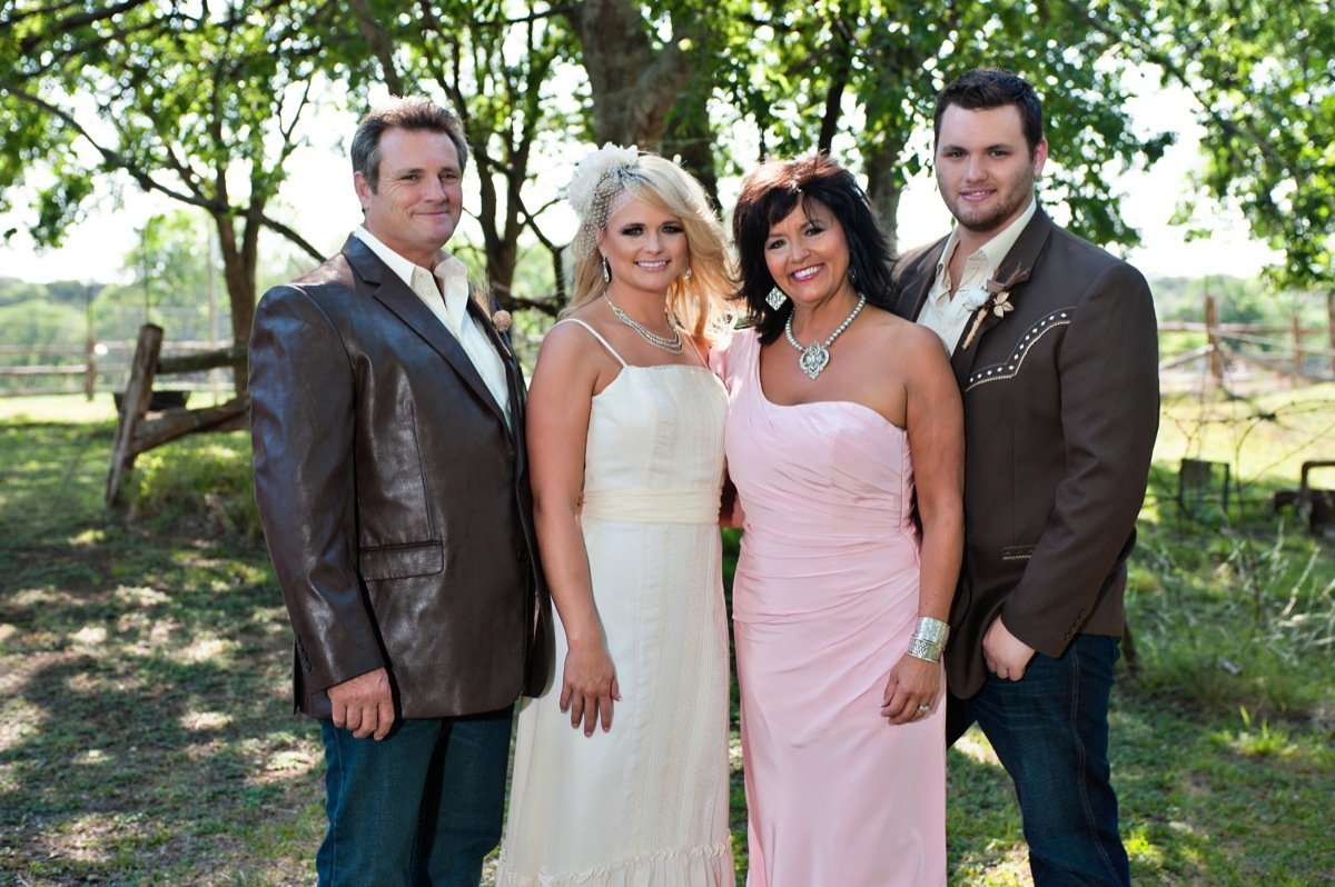 Family photo of the musician, married to Blake Shelton,  famous for Revolution & Crazy Ex-Girlfriend.